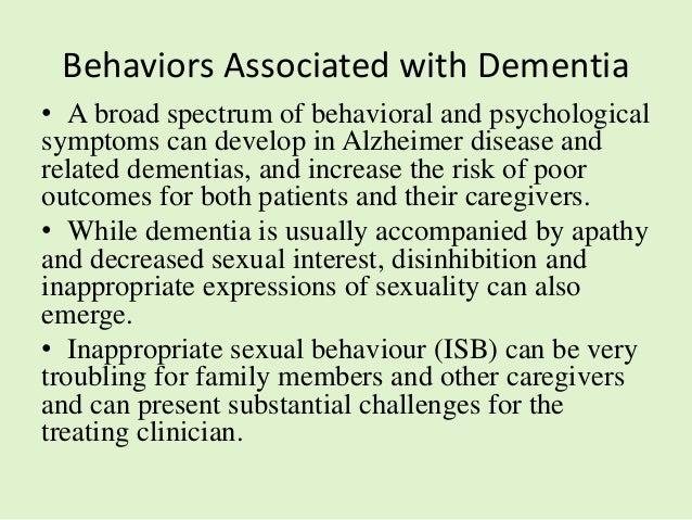 Treatment of hypersexual behavior in dementia