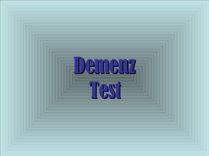 Demenz Test