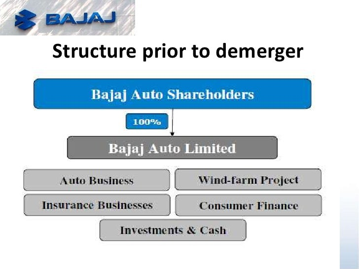 bajaj demerger The impending demerger of bajaj group flagship bajaj auto might result in up to more than two independent companies jointly promoted by the four bajaj family members: rahul, madhur, shekhar and niraj.