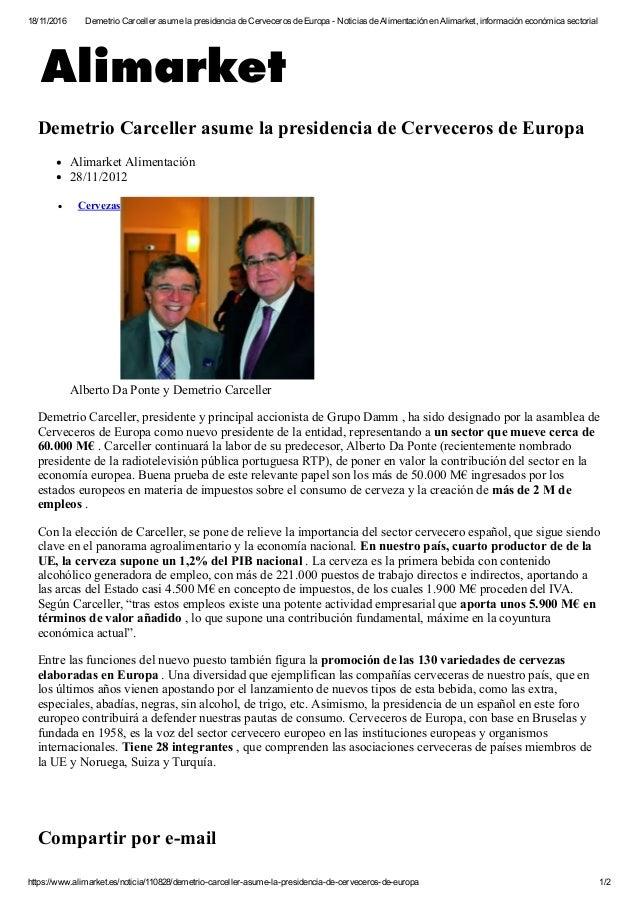 18/11/2016 DemetrioCarcellerasumelapresidenciadeCervecerosdeEuropaNoticiasdeAlimentaciónenAlimarket,inform...
