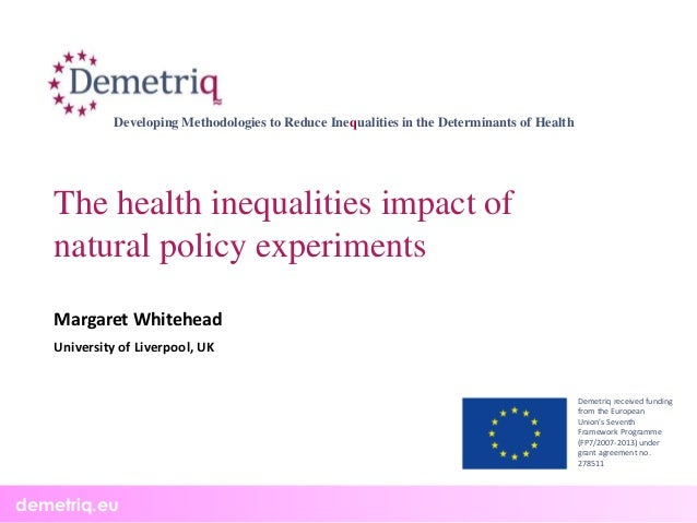 How to reduce health inequalities? Results of 4 EU funded projects: DEMETRIQ, DRIVERS, SILNE and SOPHIE. Slide 2