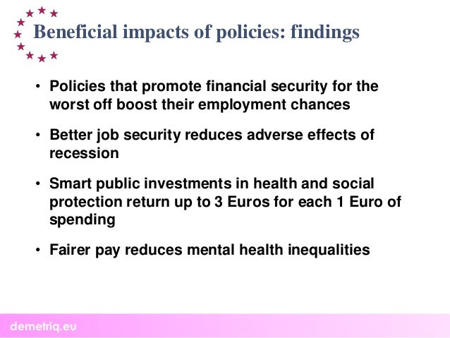 How to reduce health inequalities? Results of 4 EU funded projects: DEMETRIQ, DRIVERS, SILNE and SOPHIE. Slide 3