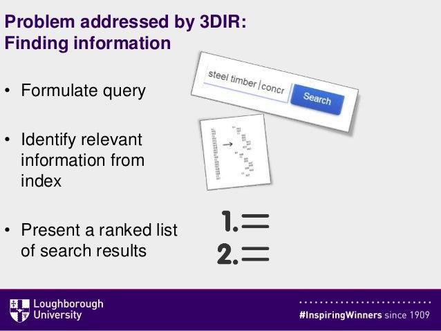 [3DIR]  BIM Search Engine: Exploiting Interrelations between Objects when Assessing Relevance Slide 3
