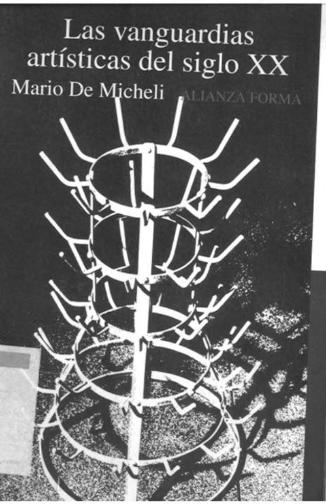 las vanguardias artisticas del siglo xxi mario de micheli