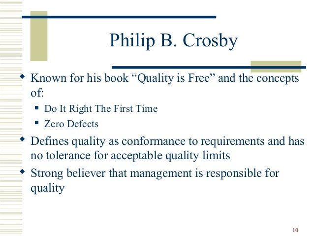 quality philosophies of deming juran and crosby Identifying some management approaches to total quality management philosophies quality management philosophies (deming, juran, crosby.