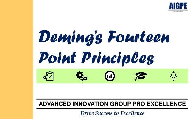 Demings 14 principles