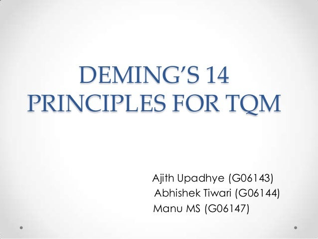 W. Edwards Deming's 14 Points for Total Quality Management