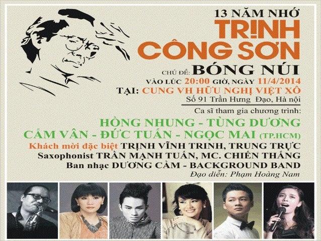 Đêm nhạc Trịnh Bóng Núi NEXTTOPEVENT.COM