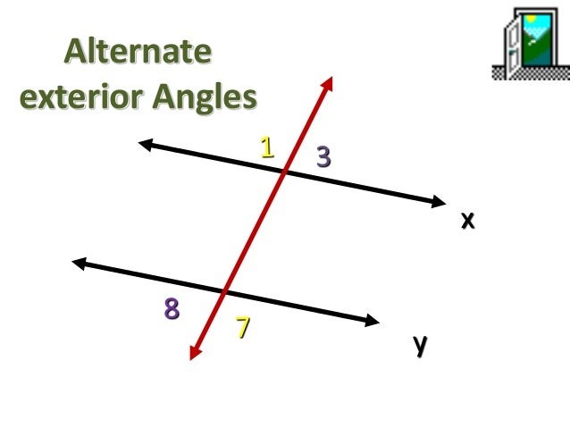Transversal line - Same side exterior angles are congruent ...