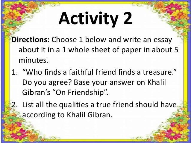 faithful friend essay