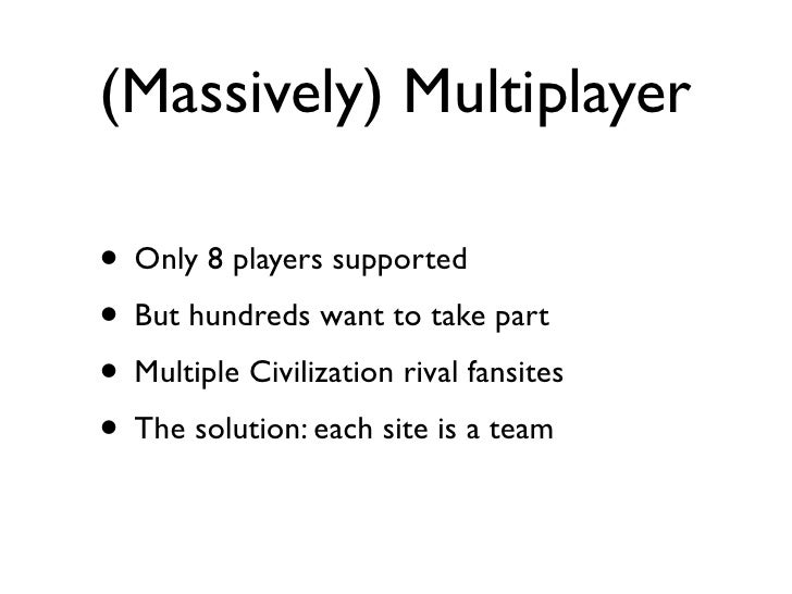 Massively Multiplayer Democracy: The Civilization 3 Intersite Democracy Game Slide 3