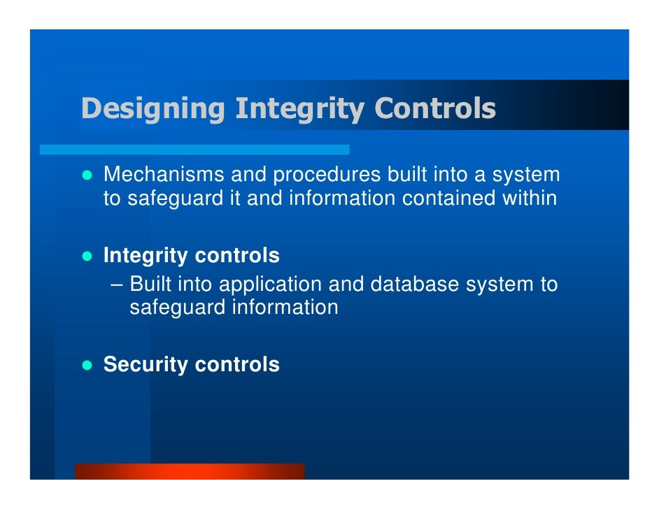 designing system interfaces controls and security 1 answer to designing the security and controls impacts the impacts of security and controls: the design of the desired security and system control should.