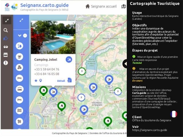 Références projets d'ideomap : solutions de cartographie agiles  Slide 2