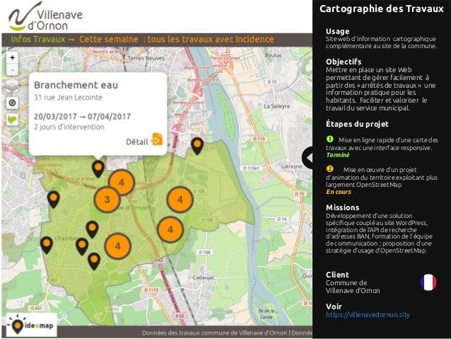 Références projets d'ideomap : solutions de cartographie agiles  Slide 3