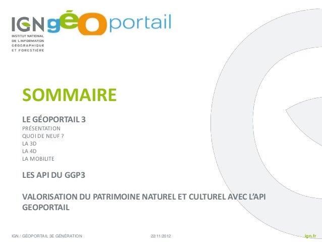 Demo2: Valorisation du patrimoine naturel et culturel grâce à l'API du Géoportail Slide 2