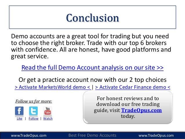 Demo account for binary option trading