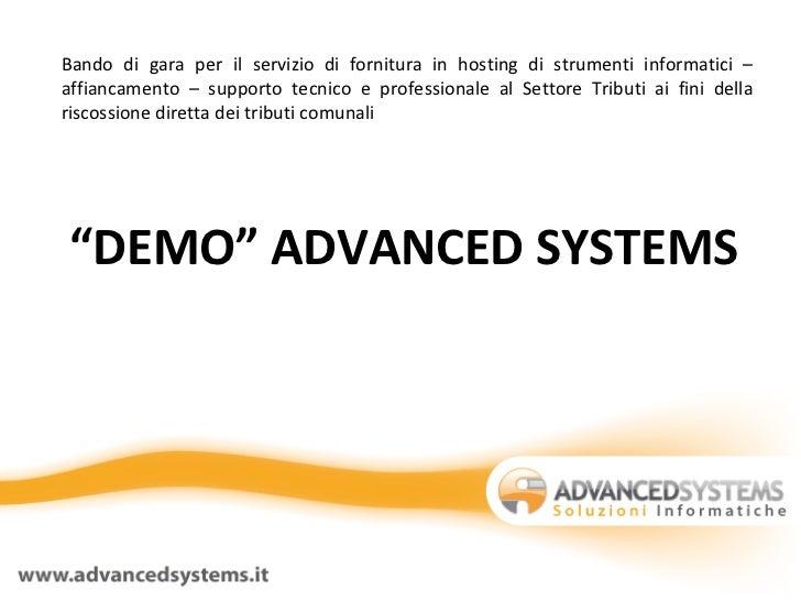 Bando di gara per il servizio di fornitura in hosting di strumenti informatici – affiancamento – supporto tecnico e profes...
