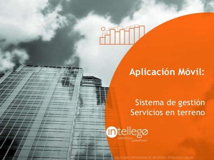 Aplicación Móvil: Sistema de gestiónServicios en terreno