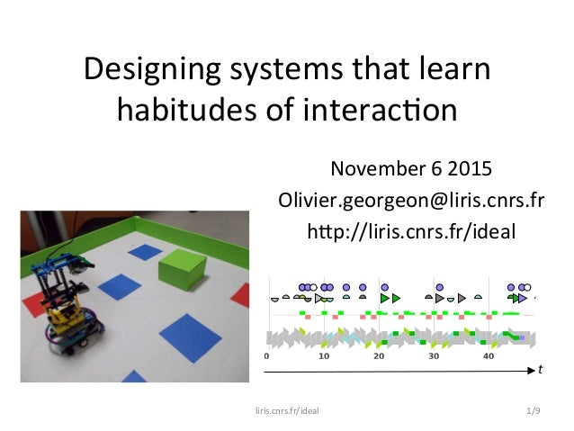 Designing  systems  that  learn   habitudes  of  interac5on   November  6  2015   Olivier.georgeon@lir...