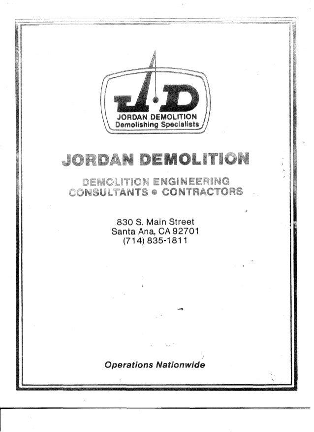 Vintage Jordan Demolition Brochure