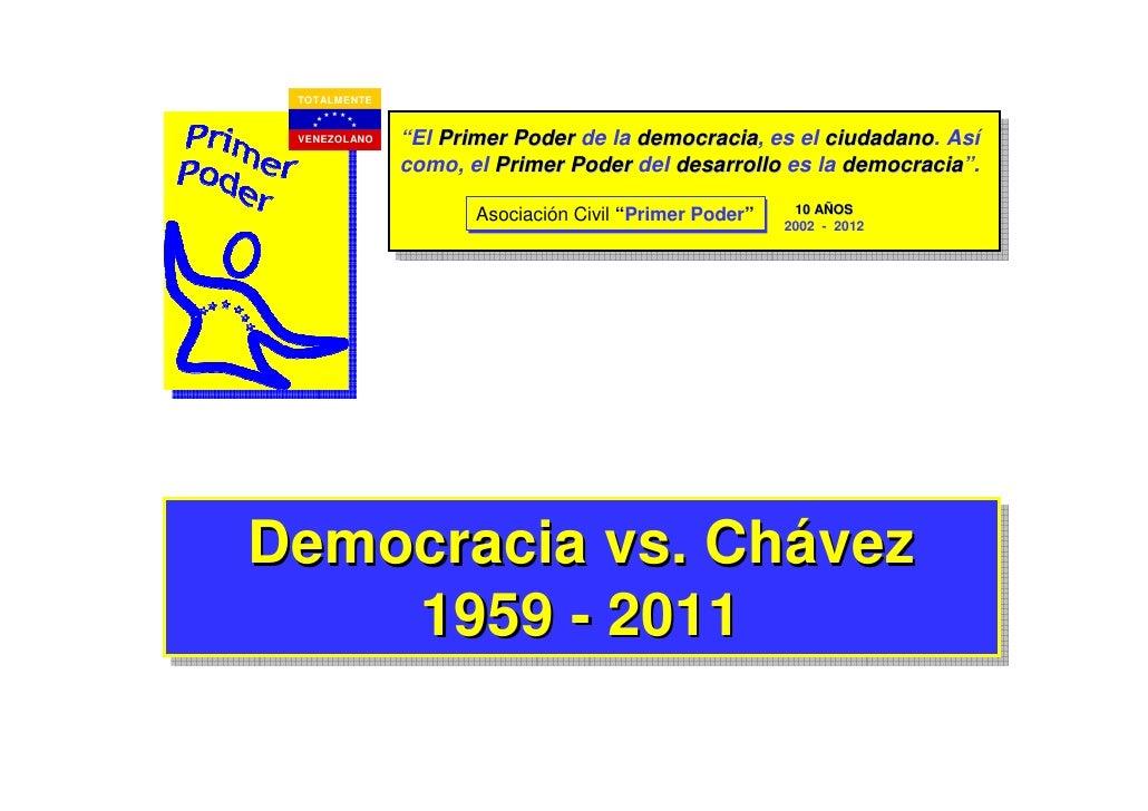 """TOTALMENTE VENEZOLANO   """"El Primer Poder de la democracia, es el ciudadano. Así                                     democr..."""