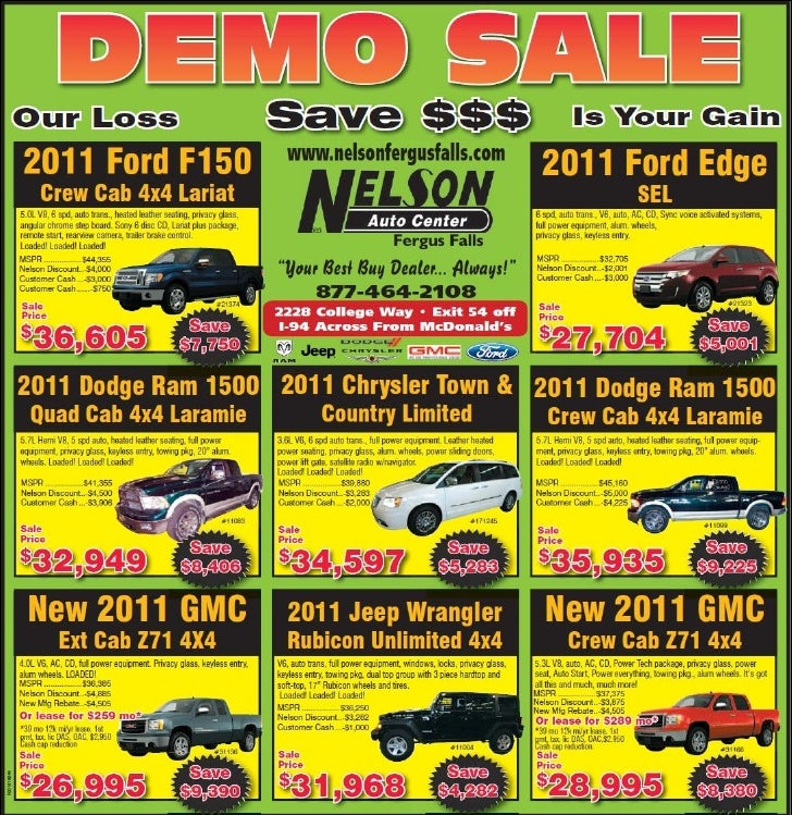 Demo Cars for Sale MN   Ford Dodge Jeep GMC Dealer near Fargo  sc 1 st  SlideShare & Cars for Sale MN   Ford Dodge Jeep GMC Dealer near Fargo markmcfarlin.com