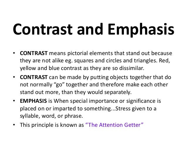 Elements And Principles Of Design Contrast : Elements and principles of design