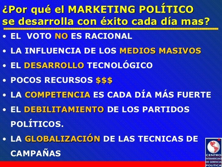 Marketing Político y su aplicación en las Campañas Electorales Slide 2