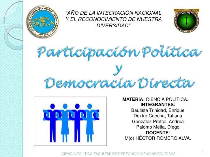 """""""AÑO DE LA INTEGRACIÓN NACIONAL Y EL RECONOCIMIENTO DE NUESTRA            DIVERSIDAD""""                              MATERIA..."""