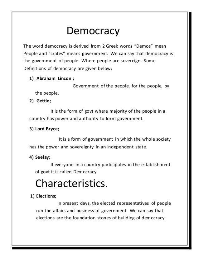 Democracy - Wikipedia