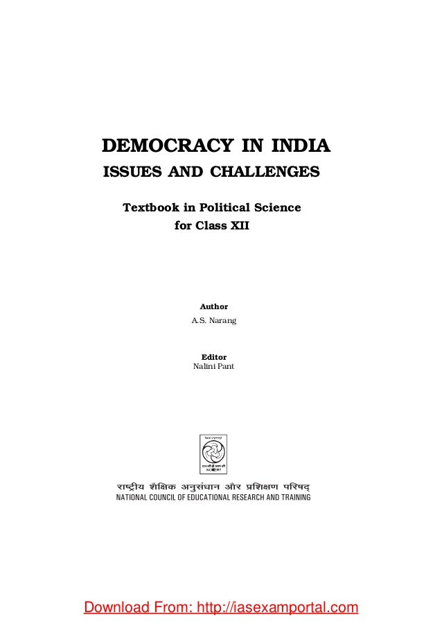 essay on challenges of democracy in india Accreditation of organisations participating in argumentation presents significant challenges for learners role of media in democracy in india essay only.