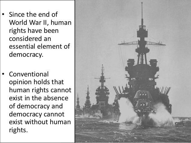Democracy and the Human rights Essay