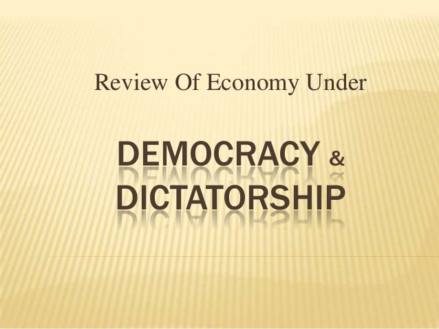 Democracy vs Dictatorship Essay Sample