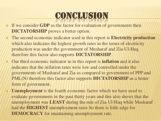 Conclusion to democracy