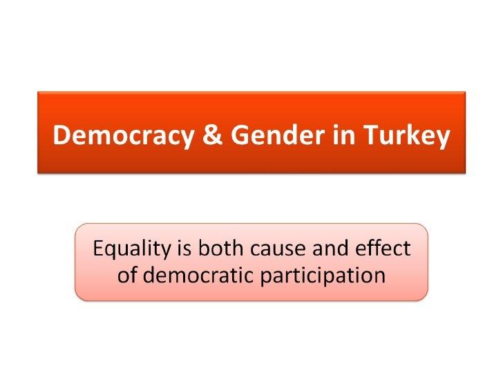 Democracy & Gender in Turkey<br />