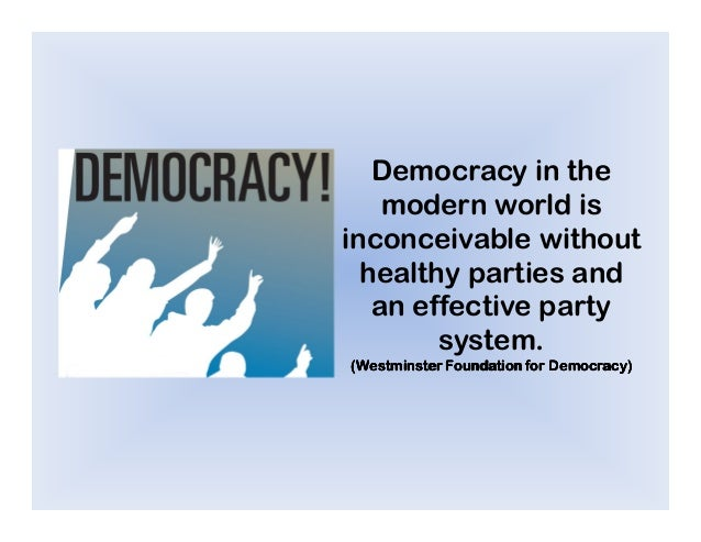 Democracy index and political parties