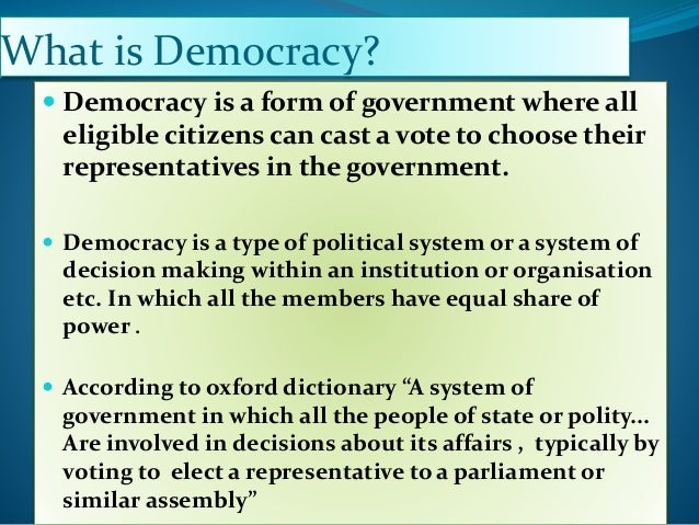 democracy india as a role model essay