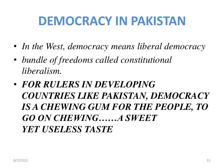 future of democracy in pakistan In pakistan, bbc media action has  topics discussed included the rise of extremism, the future of democracy and taboo subjects such as religious discrimination.