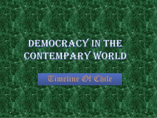 democracy in contemporary world Democracy is the most desired form of government as it makes the government liable to the citizens for most of their actions the transition from.