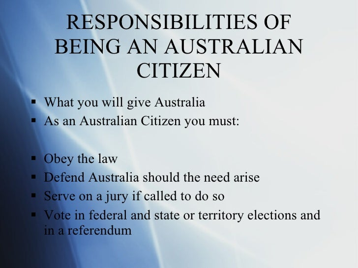 what are my rights and responsibilities as an australian citizen