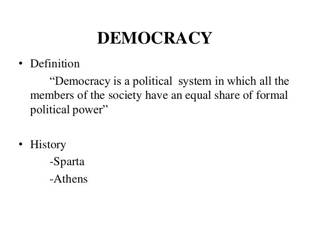 the definition and discussion of direct democracy and representative democracy Democracy republic definition: rule by the omnipotent majority in a democracy, an individual, and any group of individuals composing any minority people commonly confuse direct democracy with representative democracy.