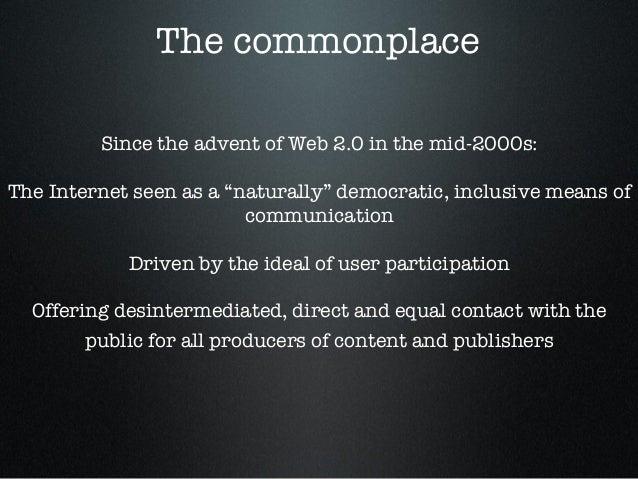 A Critique of the Internet Oligopoly Slide 2