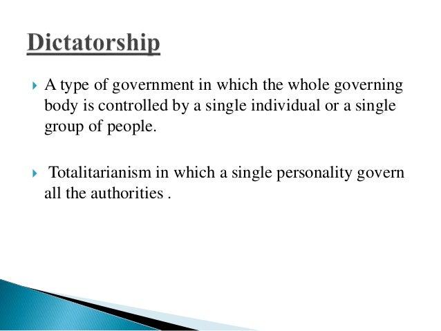 Essay on Dictatorship vs. Democracy