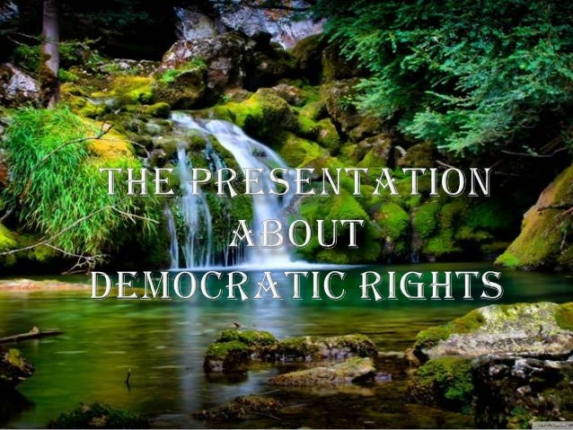 Elections and Institutions need to be combined with a third elementenjoyment of rights - to make a government democratic.