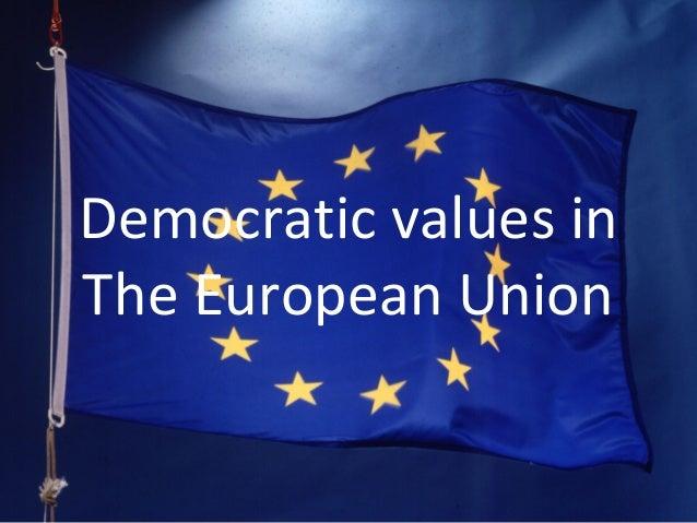 Democratic values in The European Union