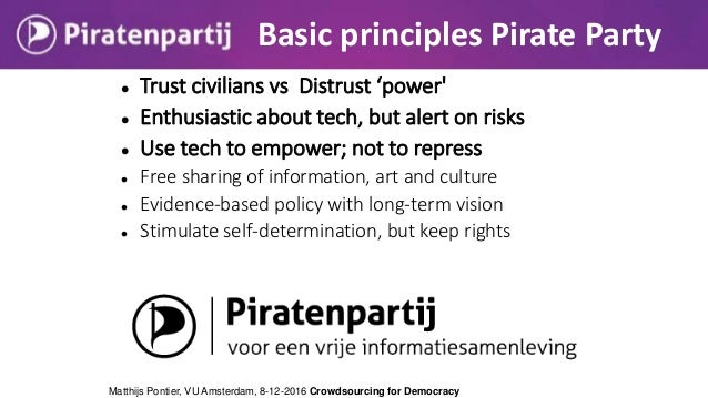  Trust civilians vs Distrust 'power'  Enthusiastic about tech, but alert on risks  Use tech to empower; not to repress ...