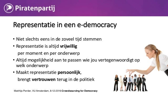  Result: Experts decide about their expertise  http://youtu.be/aIce4CvVo7I?t=2m0s Representation in an e-democracy Matth...