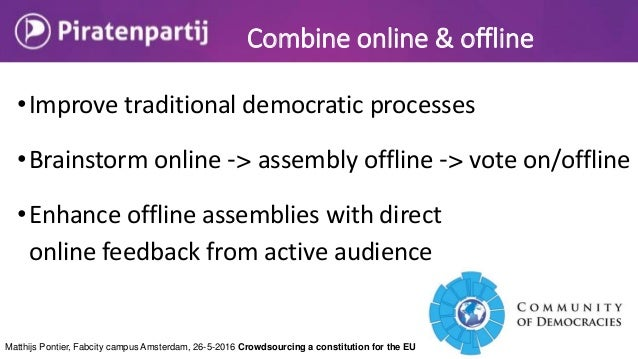 Matthijs Pontier, Fabcity campus Amsterdam, 26-5-2016 Crowdsourcing a constitution for the EU