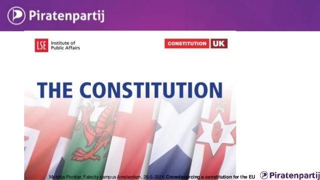 Crowdsourcing EU constitution  Constitution was voted down in referendum  Lisbon-treaty largely same; no referendum  Sy...