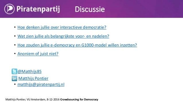 Gastcollege Digitale Democratie in de Praktijk 9 12-16